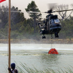 SA Air Force Oryx helicopter firefighting Hottentots Holland Mountain Range 2009 - Photo Copyright © Werner Hendrikz