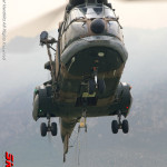 SA Air Force Oryx 1234 of 22 Squadron firefighting Hottentots Holland Mountain Range 2009 - Photo Copyright © Werner Hendrikz